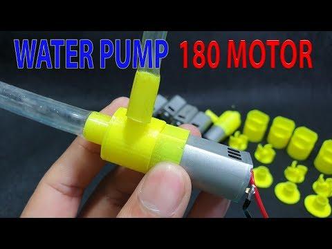 DIY mini Powerful Water Pump With 180 Motor and 3D Printer