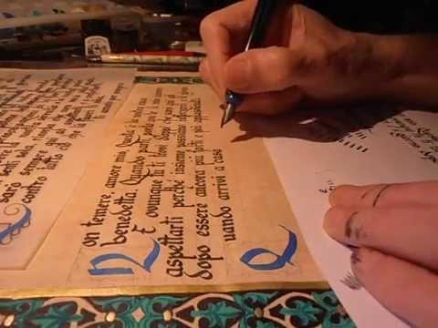 Calligraphy medieval - Glassmann Scriptorium - Calligraphic Coffee  associations