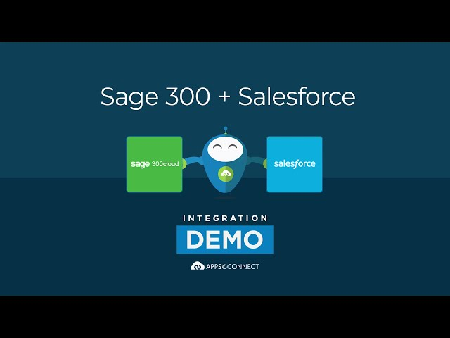 Integrate Salesforce CRM and Sage 300 ERP | APPSeCONNECT