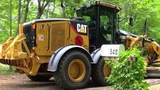 Cat 140M Grading New Road