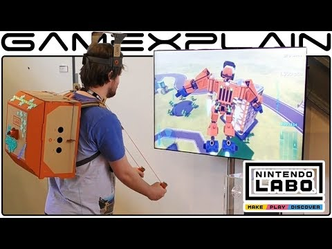 10 Minutes of Labo Hands-On Gameplay (Toy-Cons Everywhere! - Amsterdam Event)