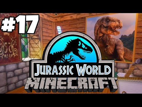 Jurassic World: Minecraft Dinosaurs | GIANT T.REX PAINTINGS! (Playthrough Part 17)