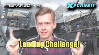 Landing Challenge! | PMDG vs. Zibo 737 at Stormy Gibraltar | X-Plane 11 vs. Prepar3D V4!