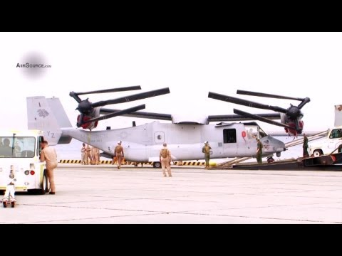 USMC MV-22 Osprey Squadron Arrives at MCAS Iwakuni, Japan (2013)