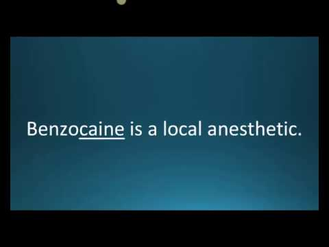 How to pronounce benzocaine (Anbesol) (Memorizing Pharmacology Flashcard)