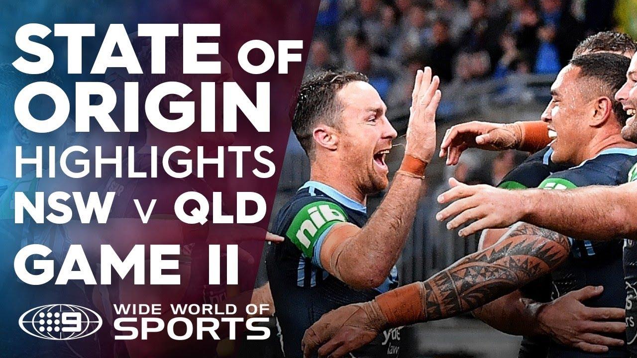 2019 State of Origin Highlights: QLD v NSW - Game II | NRL on Nine