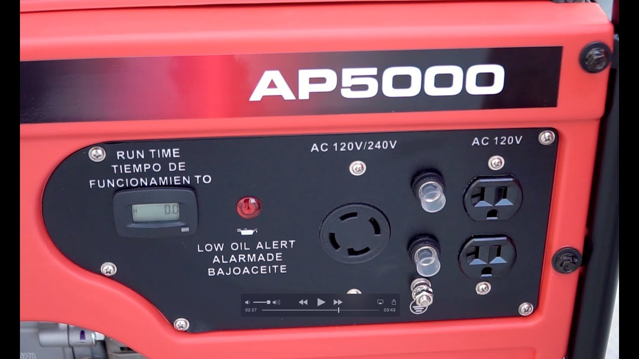 A Ipower Ap5000 And Ap4000 Unbox Starting Your New Generator Fuse Box