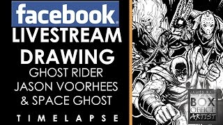 SPACE GHOST, GHOST RIDER & JASON VOORHEES - FACEBOOK LIVESTREAM TIMELAPSE VERSION