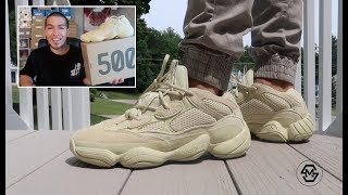 "ADIDAS YEEZY 500 ""SUPER MOON YELLOW"" ON FEET - SIZING & REVIEW"