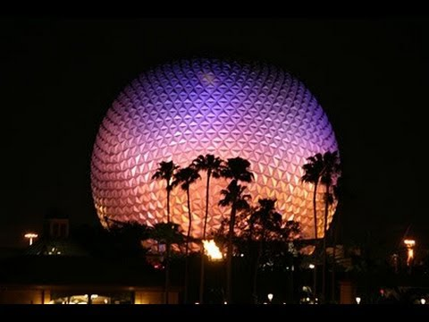 Epcot Future World Complete Walkthrough at Night Walt Disney World 2013 HD