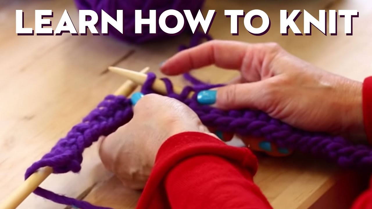 Knitting 101, Beginner's Getting-Started Scarf!