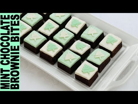 GLUTEN FREE BROWNIES The BEST MINT CHOCOLATE BROWNIE BITES Easy Gluten Free Recipes! GlutenFreeHabit