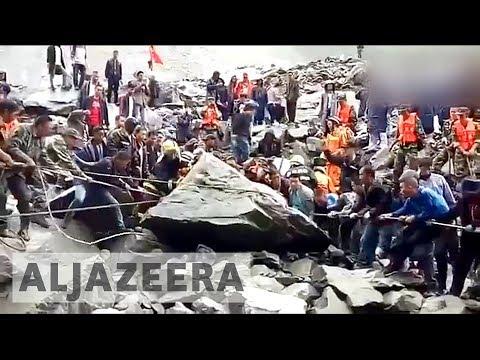 Over 100 missing after a massive landslide in Sichuan