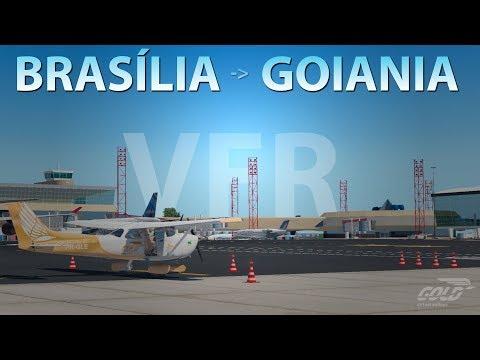 [XP11 VATSIM ✈C172] VOANDO POR AÍ VFR | SBBR/BRASÍLIA - SBGO/GOIANIA