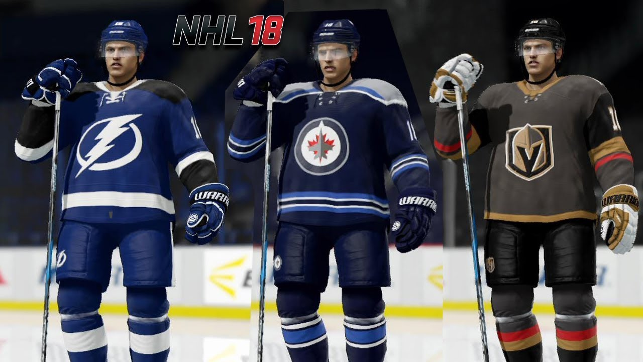NHL 18 - NHL League Intro - The New Custom Jerseys - YouTube 2d1c4990386