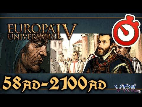 Europa Universalis 4 - Common Sense Extended Timeline 58 AD - 2100 AD  Timelapse