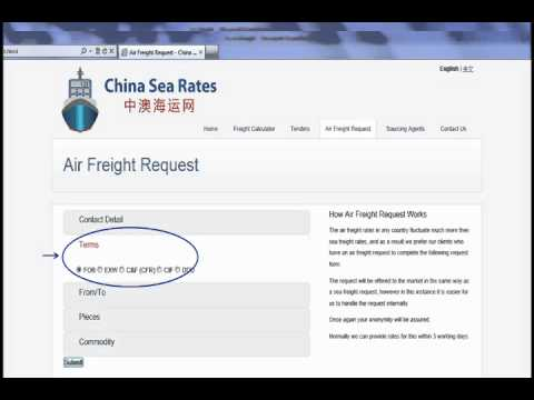 China Sea Rates Air Freight Guide