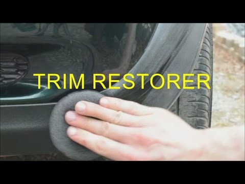 Turtle wax trim restorer review how to restore black Black interior car trim restorer