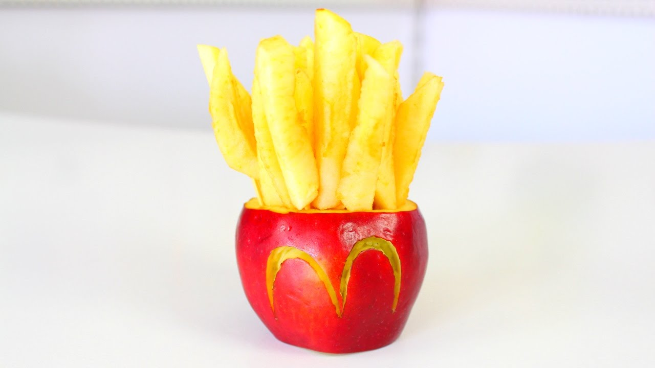 how to make mcdonald u0027s fries out of an apple youtube