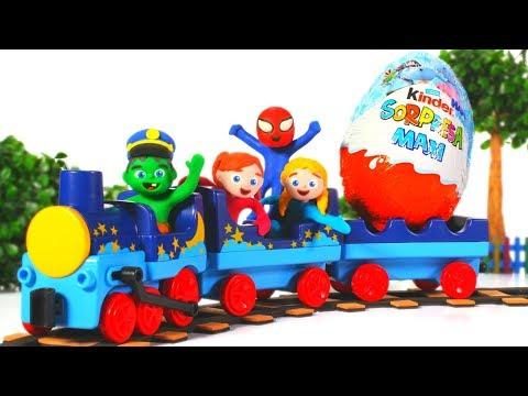 SUPERHERO BABIES TAKE A SURPRISE TRAIN 鉂� SUPERHERO PLAY DOH CARTOONS FOR KIDS