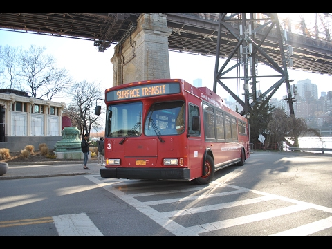 Roosevelt Island Operating Corp. Orion VII Hybrid Electric 3 at the Tram Station