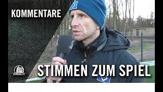 Die Stimmen zum Spiel | Hamburger SV II U16 - VfB Lübeck U16 (13. Spieltag, Regionalliga Nord)