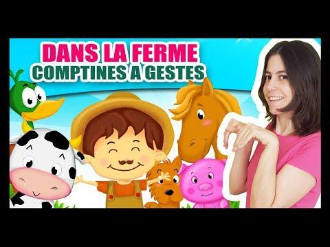 Dans la ferme de Mathurin - Comptines à gestes pour bébés avec les animaux - Titounis