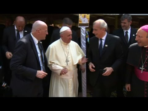 Pope arrives in conflict-wracked CAR