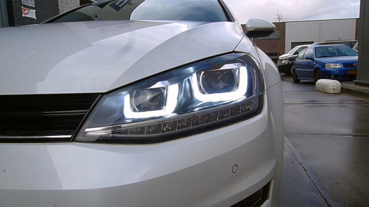 Vw Gti 0 60 >> VW Golf 7 R GTI styling LED DRL koplampen Bi-Xenon - Pro Car Tuning - YouTube
