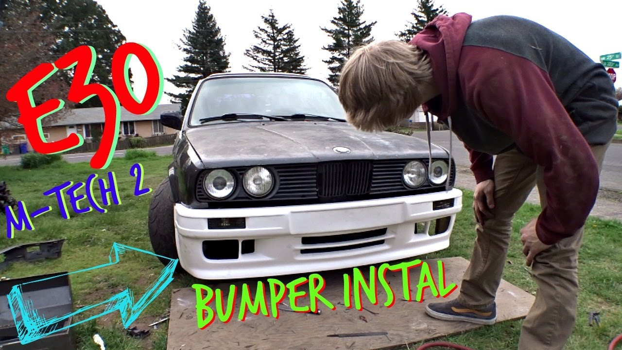 Bmw E30 M Tech 2 Front And Rear Bumper Install Drift Car