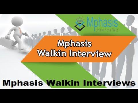 Mphasis Walkin Interviews   Freshers   Associate/Senior Associate