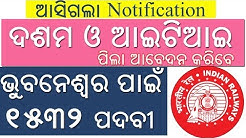 Railway recruitment for Bhubaneswar | Qualification 10th & ITI || 1532 Posts