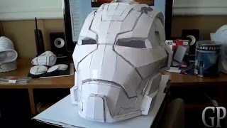 Iron Man Mark 17 Casco Helmet Pepakura Papercraft