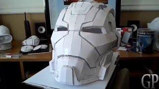 Iron Man Mark 17 Casco Helmet Pepakura Papercraft