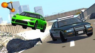 BeamNG.drive - High Speed Police Chases Take Down