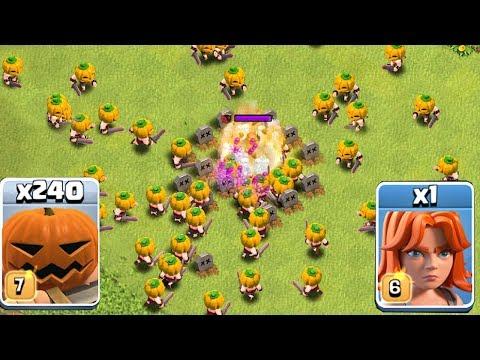 1 TROOL vs. ALL PUMPKIN ARMY!! | Clash of clans | PUMPKIN TROLLING!!