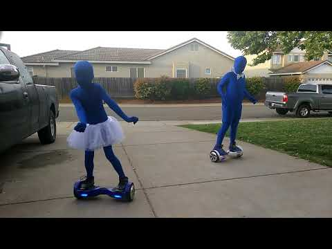 K and C dancing on hoverboards practicing for Arnold Adreani Elementary school 2018 to Justin Bieber