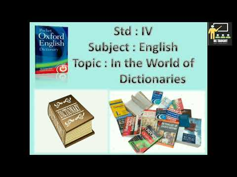 Class 4 | English | In The World Of Dictionaries