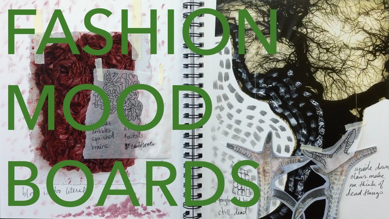 Fashion Design Tutorial 2 Concept Dev Mood Boards Youtube