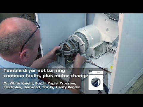 Tumble dryer not turning common faults, plus motor change on