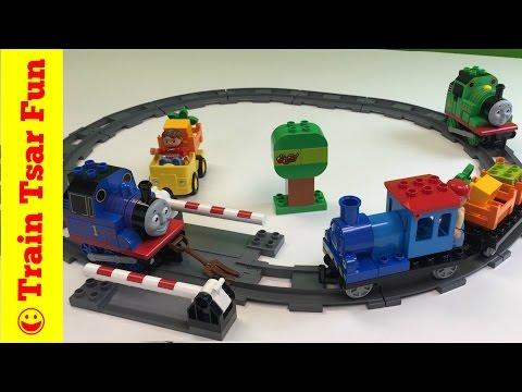 New 2016!  lego duplo push train set 10810 + crashes with thomas & percy