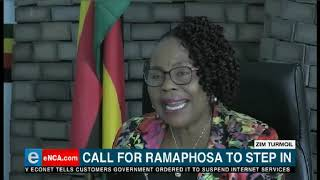 Zimbabwe oppostion party the MDC is asking South Africa to intervene