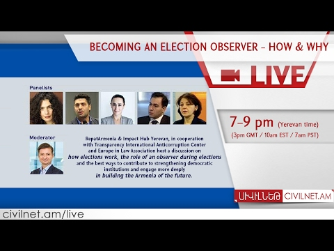 LIVE. Becoming an election observer - How & Why