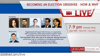 LIVE  Becoming an election observer   How & Why