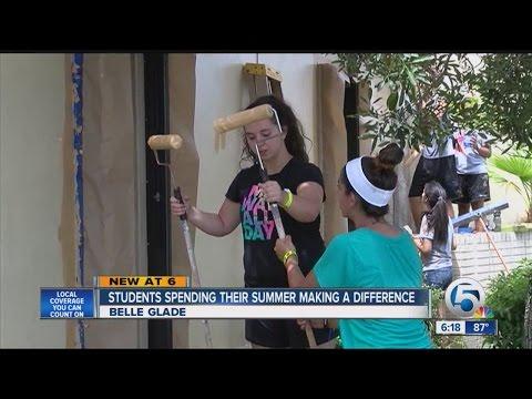 Teens dedicate their summer toward helping others