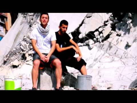 rubble bucket challenge  : دلو الركام