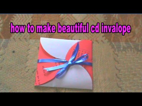How to Make Beautiful CD Or DVD Envelope  with Paper