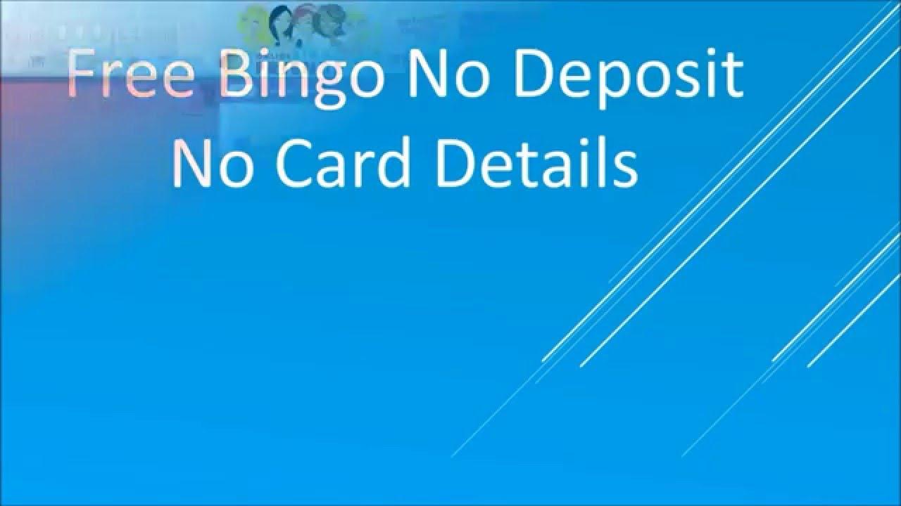 Free Bingo No Deposit Required No Card Details