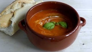 Tomato Soup Recipe How To Make - Vegetarian Tomato & Basil Soup