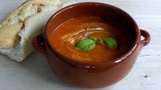 Tomato Soup recipe How to Make - Vegetarian tomato & basil soup